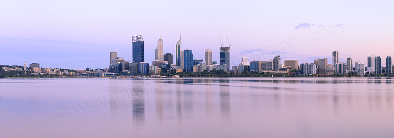 Perth and the Swan River at Sunrise, 4th February 2015