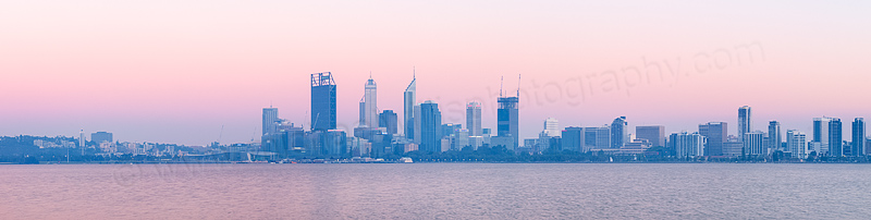 Perth and the Swan River at Sunrise, 6th February 2015