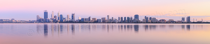 Perth and the Swan River at Sunrise, 10th February 2015