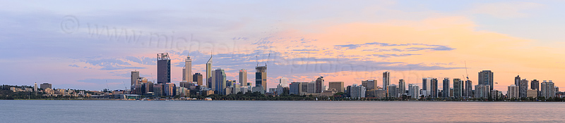 Perth and the Swan River at Sunrise, 11th February 2015