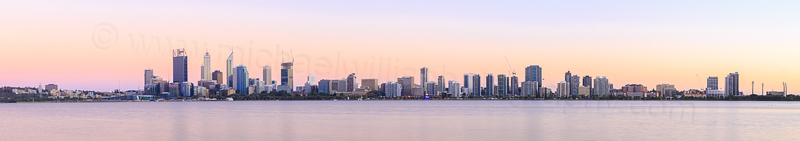 Perth and the Swan River at Sunrise, 15th February 2015