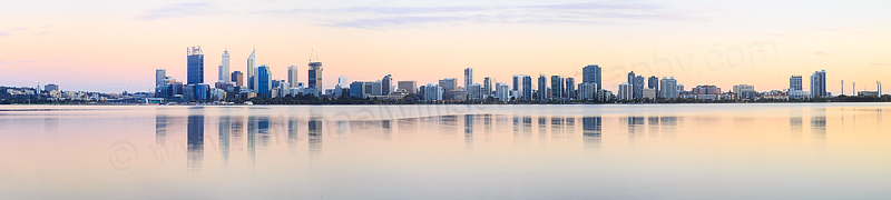 Perth and the Swan River at Sunrise, 19th February 2015