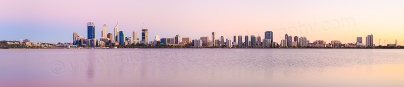 Perth and the Swan River at Sunrise, 21st February 2015