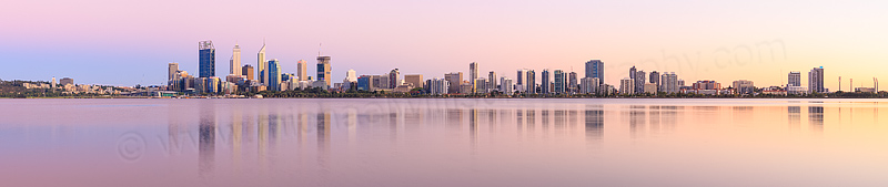 Perth and the Swan River at Sunrise, 22nd February 2015