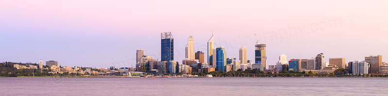 Perth and the Swan River at Sunrise, 23rd February 2015