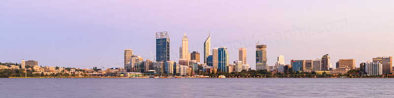 Perth and the Swan River at Sunrise, 24th February 2015