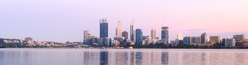 Perth and the Swan River at Sunrise, 25th February 2015