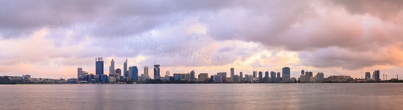 Perth and the Swan River at Sunrise, 27th February 2015