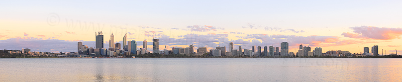 Perth and the Swan River at Sunrise, 3rd March 2015