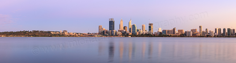 Perth and the Swan River at Sunrise, 4th March 2015