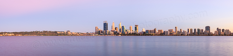 Perth and the Swan River at Sunrise, 5th March 2015