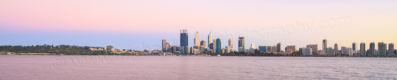 Perth and the Swan River at Sunrise, 6th March 2015