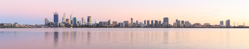 Perth and the Swan River at Sunrise, 7th March 2015