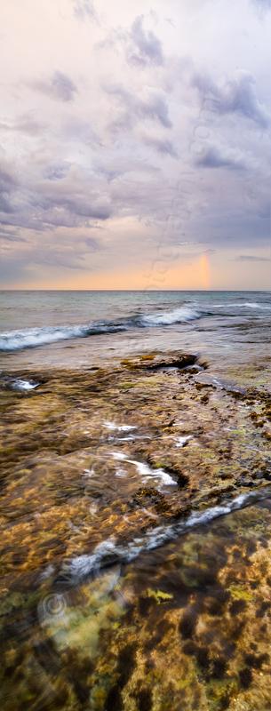Burns Beach Rainbow at Sunrise, 14th March 2015