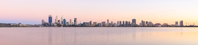 Perth and the Swan River at Sunrise, 10th March 2015