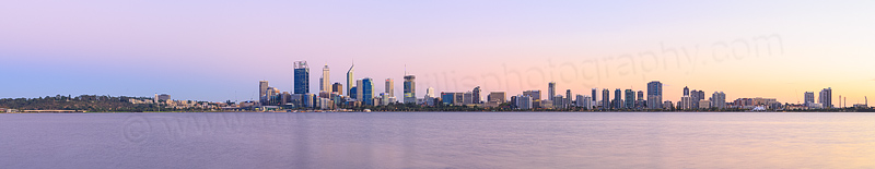 Perth and the Swan River at Sunrise, 11th March 2015