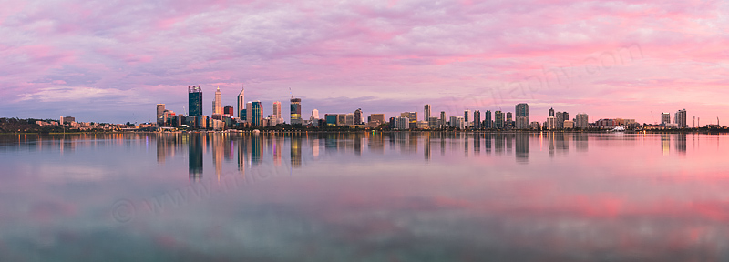 Perth and the Swan River at Sunrise, 13th March 2015