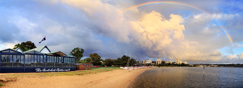 Rainbow Over South Perth at Sunrise, 16th March 2015