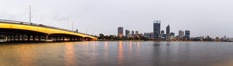 Perth and the Swan River at Sunrise, 18th March 2015