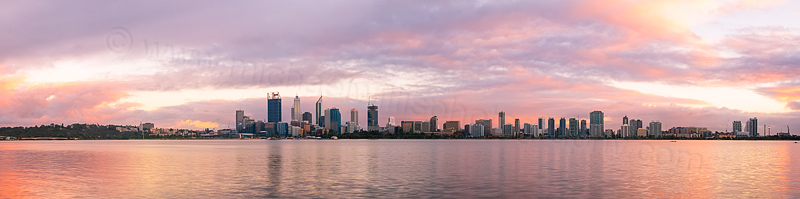 Perth and the Swan River at Sunrise, 19th March 2015