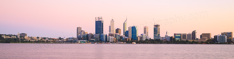Perth and the Swan River at Sunrise, 20th March 2015