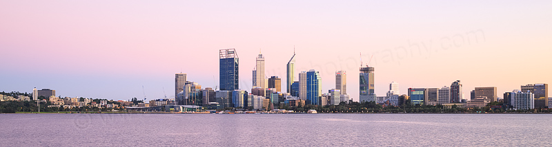 Perth and the Swan River at Sunrise, 23rd March 2015