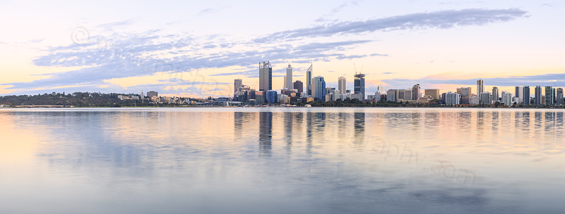 Perth and the Swan River at Sunrise, 27th March 2015
