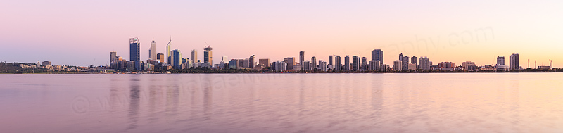 Perth and the Swan River at Sunrise, 29th March 2015