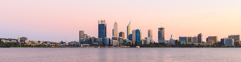 Perth and the Swan River at Sunrise, 1st April 2015