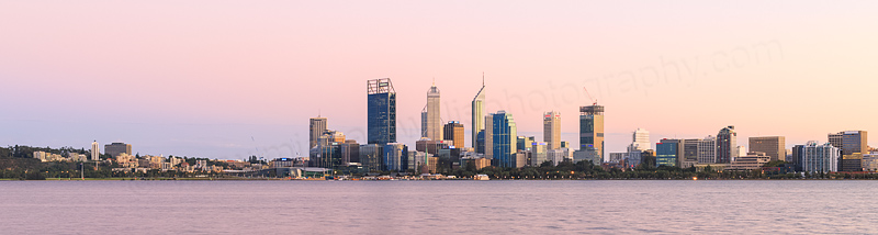 Perth and the Swan River at Sunrise, 2nd April 2015