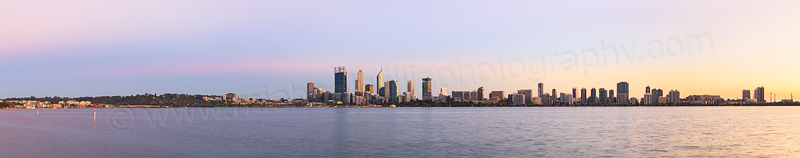 Perth and the Swan River at Sunrise, 3rd April 2015