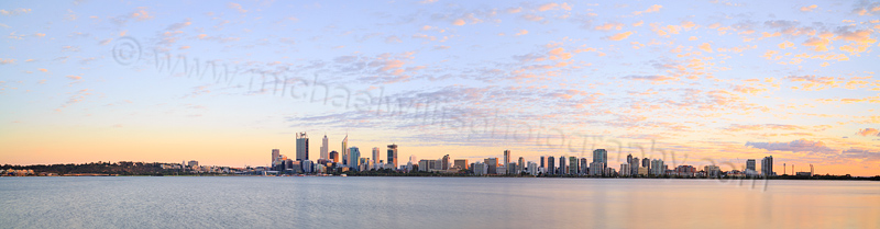 Perth and the Swan River at Sunrise, 5th April 2015