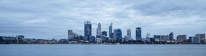 Perth and the Swan River at Sunrise, 8th April 2015