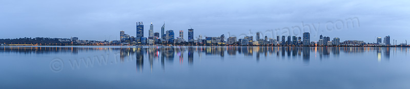 Perth and the Swan River at Sunrise, 9th April 2015