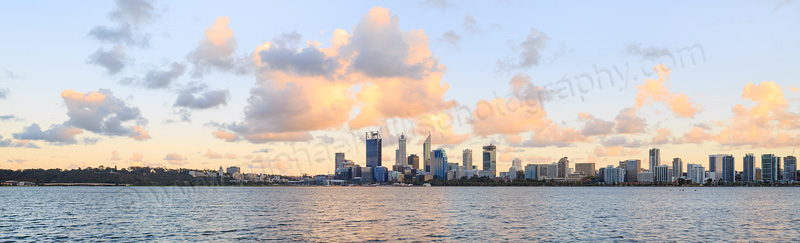 Perth and the Swan River at Sunrise, 11th April 2015