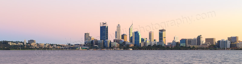 Perth and the Swan River at Sunrise, 17th April 2015