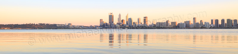 Perth and the Swan River at Sunrise, 18th April 2015