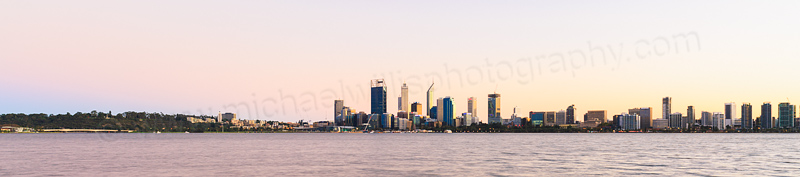 Perth and the Swan River at Sunrise, 19th April 2015