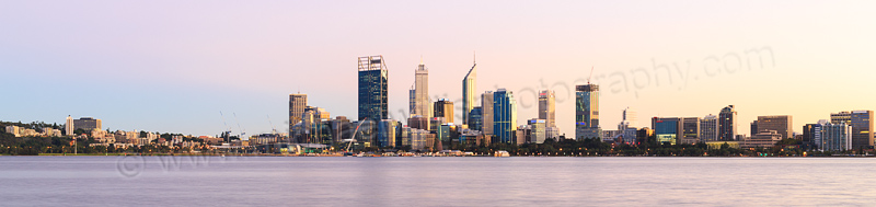 Perth and the Swan River at Sunrise, 20th April 2015