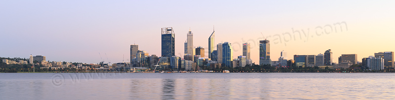 Perth and the Swan River at Sunrise, 21st April 2015