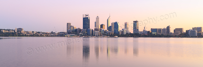 Perth and the Swan River at Sunrise, 22nd April 2015