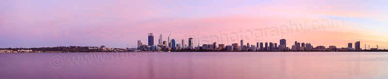 Perth and the Swan River at Sunrise, 24th April 2015