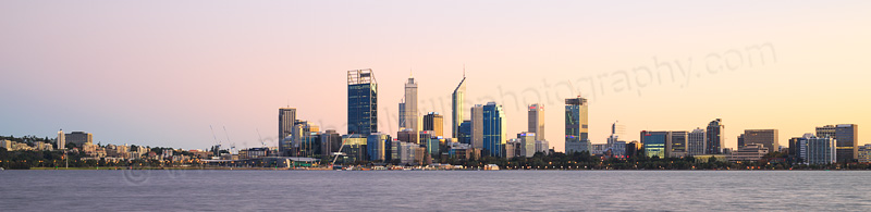 Perth and the Swan River at Sunrise, 27th April 2015