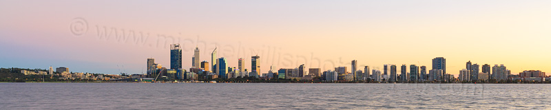 Perth and the Swan River at Sunrise, 28th April 2015