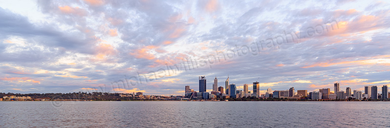 Perth and the Swan River at Sunrise, 30th April 2015