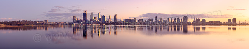 Perth and the Swan River at Sunrise, 3rd May 2015