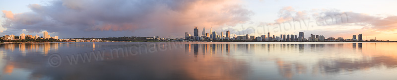 Perth and the Swan River at Sunrise, 4th May 2015