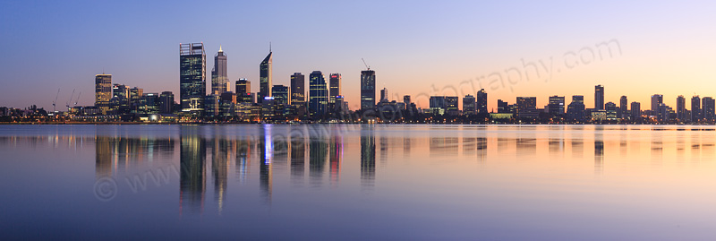 Perth and the Swan River at Sunrise, 6th May 2015