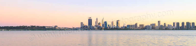 Perth and the Swan River at Sunrise, 12th May 2015