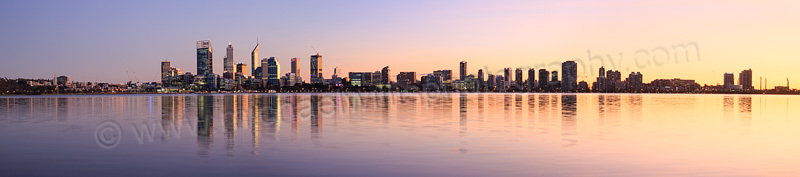 Perth and the Swan River at Sunrise, 20th May 2015
